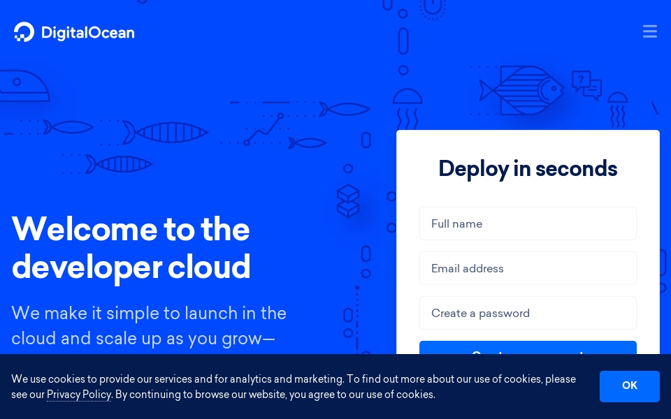 DigitalOcean screenshot